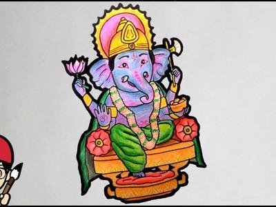 How To Draw Lord Ganesha. Ganpati Bappa ( Ganesh Chaturthi.Festival Special ) - MWP