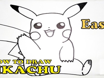 How to Draw Pikachu Step By Step | Easy Tutorial | HD
