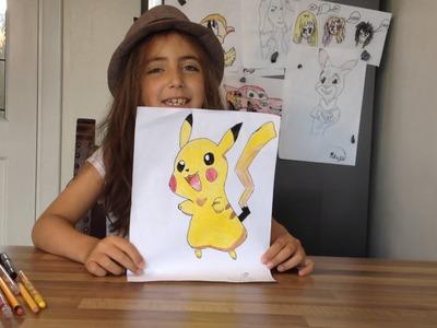 How to draw Pokemon - Maya shows how to draw Pikachu
