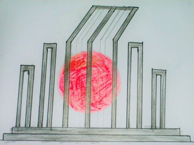 How To Draw Shahid Minar