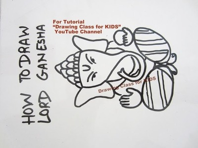 How to Draw Simple Ganesha Drawing Tutorial for Kids Beginners