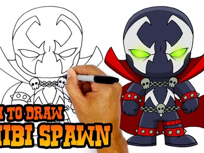 How to Draw Spawn (Chibi)- Art Lesson for Kids