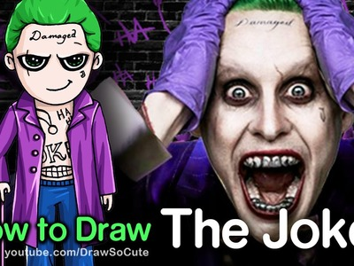 How to Draw Suicide Squad The Joker step by step Chibi