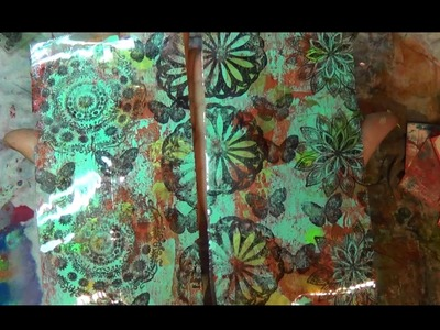 How to gelli plate tape