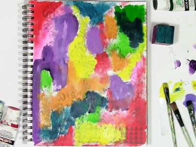 How to let go of control with color in an art journal