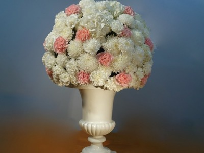 How to make a ball of fresh flowers