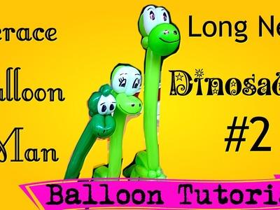 How to make a CUTER Long neck dinosaur balloon!