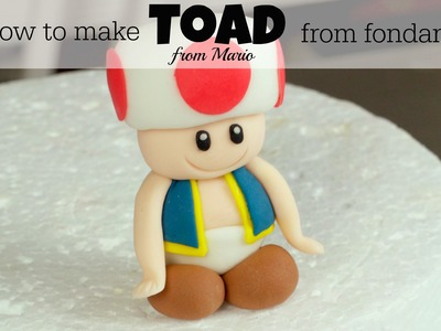 How To Make A Fondant Toad from Mario
