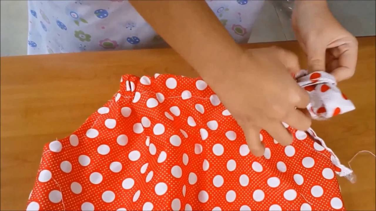 How to make a kid dress patterns and to sew a easy dress patterns STEP8 The Dress Result