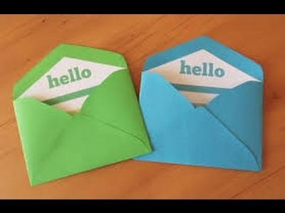 How to make a Paper Envelope Without Glue or Tape easy | Origami | Gift card |