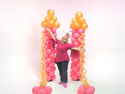 How To Make a Princess Castle Entryway From Balloons