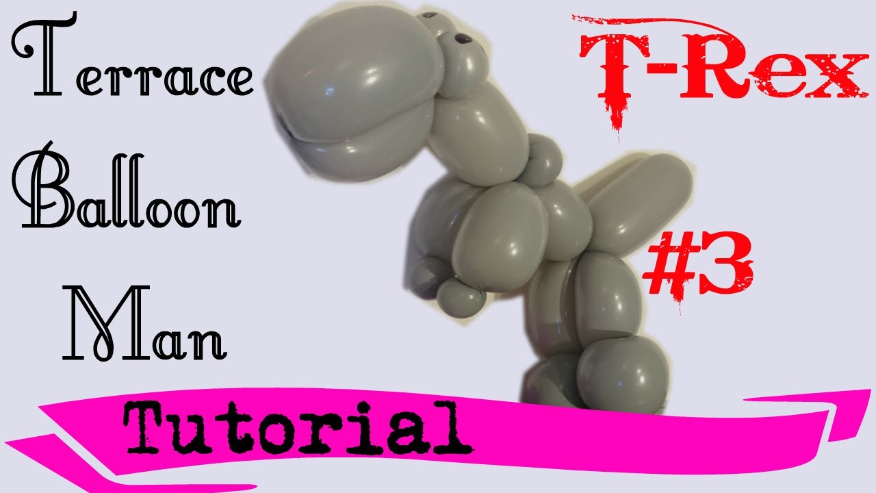 How to make a T-Rex with only ONE balloon!