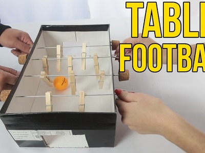 How To Make A Table Football With A Shoe Box | table top soccer