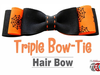 How to Make a Triple Bow-Tie Hair Bow - TheRibbonRetreat.com