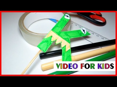 How to make alphabet letters with paper - letter k