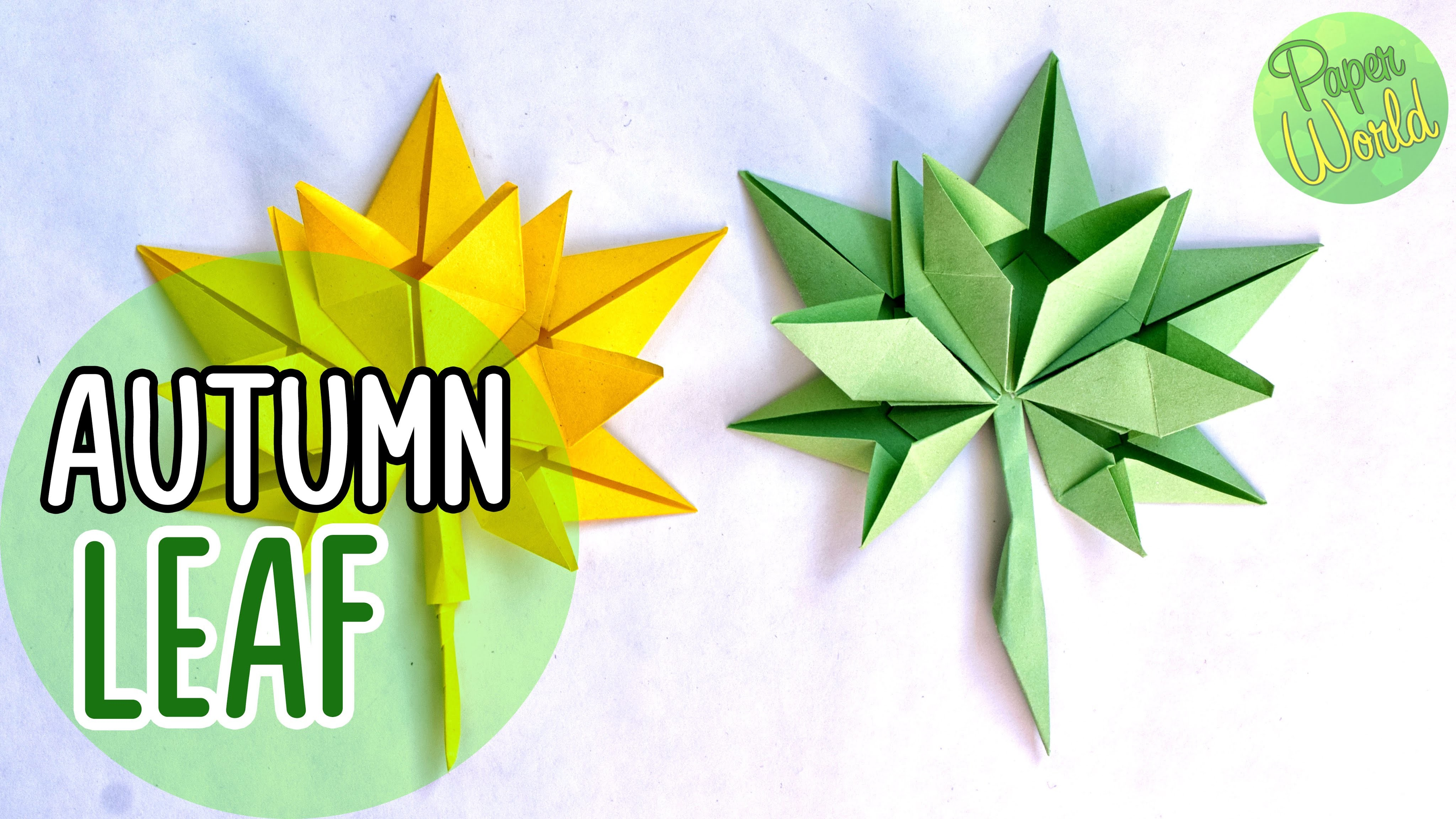 How to make AUTUMN LEAF PAPER | Simple ORIGAMI