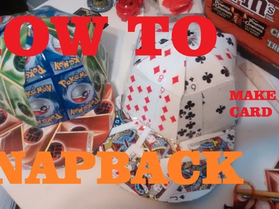 HOW TO MAKE Card Hat (Snapback) Tutorial