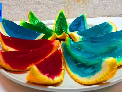 How To Make Colors Orange Jelly Pudding DIY Rainbow Gummy Easy Desserts (Lifehack )