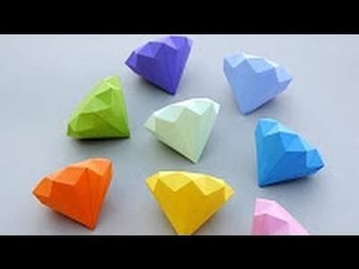 How to make diamond using rich paper easy way at home