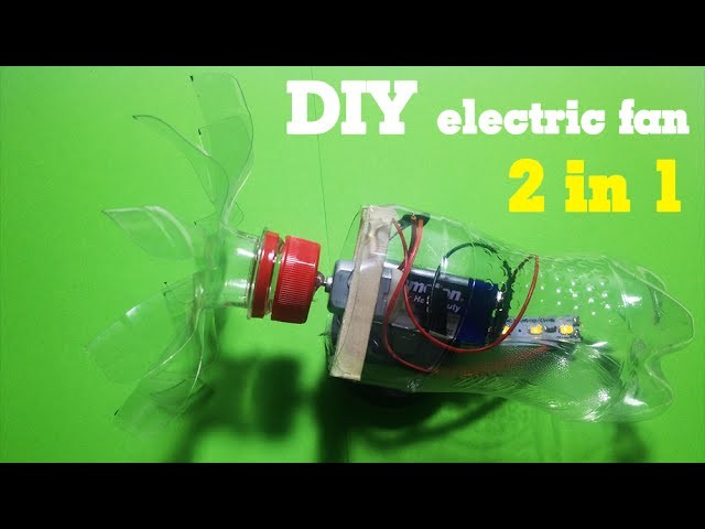 How to make electric fan.led light - Multifunction tool 2 in 1