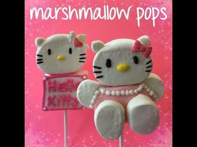How to make Hello Kitty Marshmallow Pops
