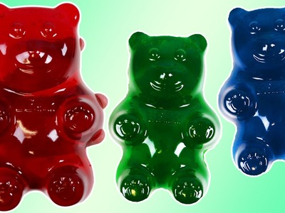 How to Make HUGE GUMMY BEAR Jello Treats | DIY Fun & Easy Make Your Own Gummy Bear Candy!
