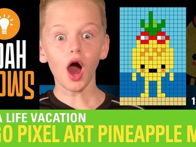 How to make LEGO Pixel Art! Pineapple Man (Toca Boca - Toca Life Vacation)