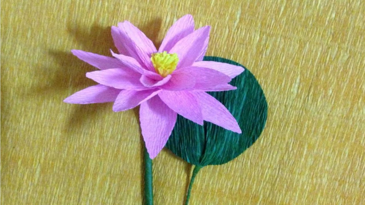 How to Make Lotus Crepe Paper Flowers - Flower Making of Crepe Paper - Paper Flower Tutorial