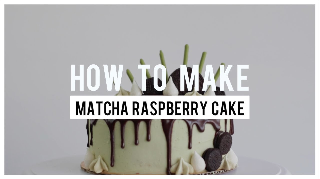 How To Make Matcha Raspberry Cake | Follow The Freemans