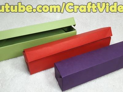 How to make Origami Pencil Box | Paper Pencil Box