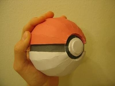 How to make paper Pokeball - (HINDI)