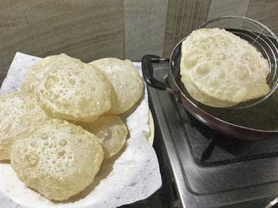 How to make Phulko Luchi | Bengali Deep Fried Bread - In Bengali Recipe