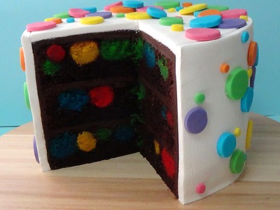 How to make polka dot devil's food cake step by step