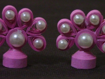 How To Make Quilling Stud Earrings. Design 2.Tutorial
