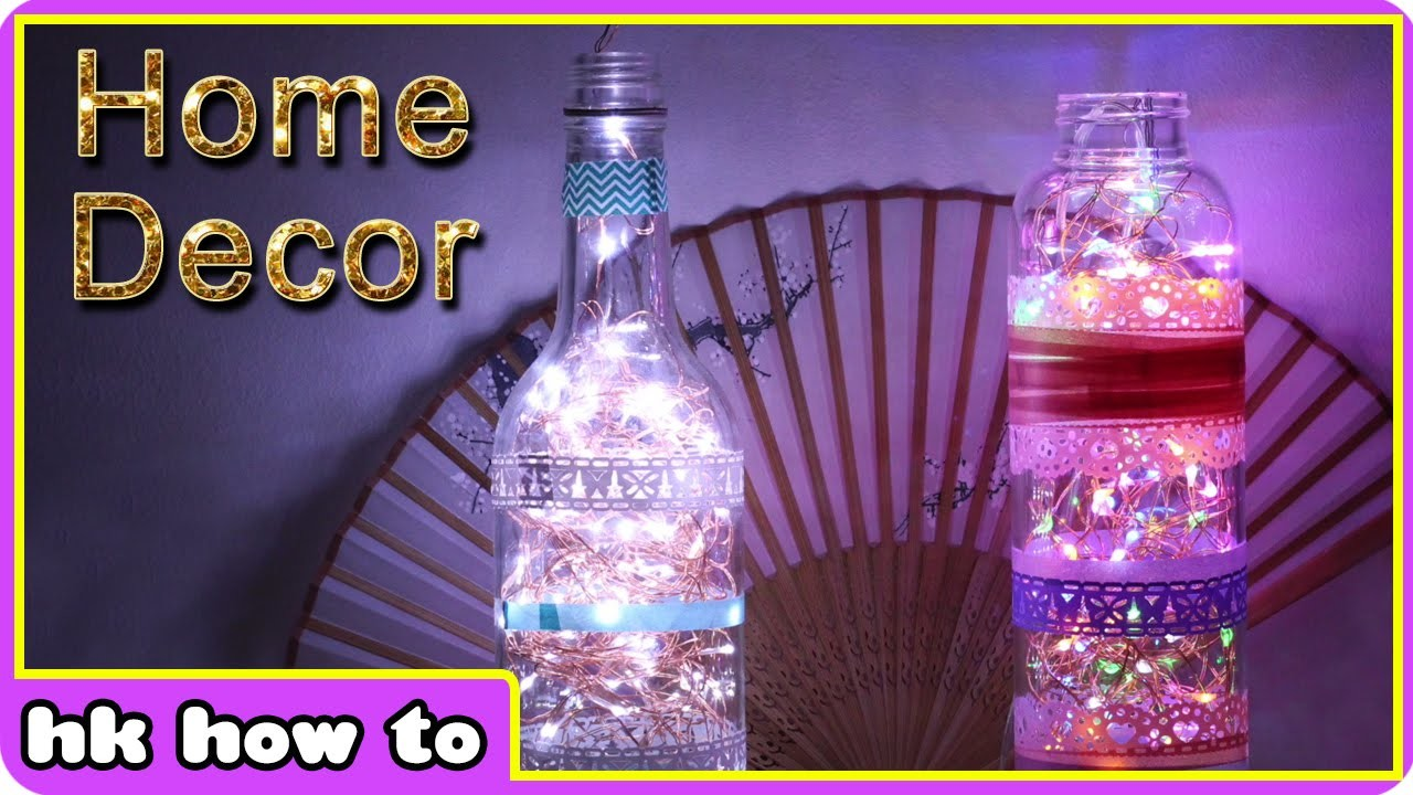 How To Make The Most Gorgeous Glass Bottle Lamps from Waste Bottles - DIY Home Decor Ideas