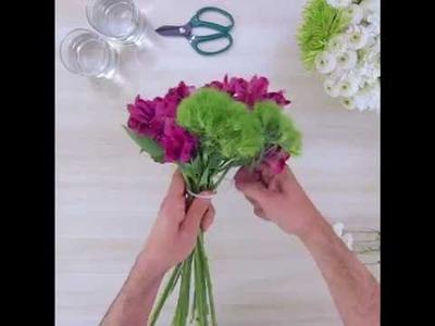How To Make Three Easy Flower Arrangements Using One Bouquet
