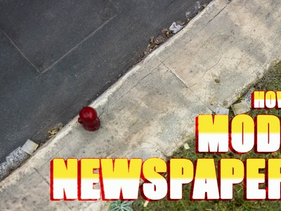 How to Model Newspapers for your Diorama or Layout