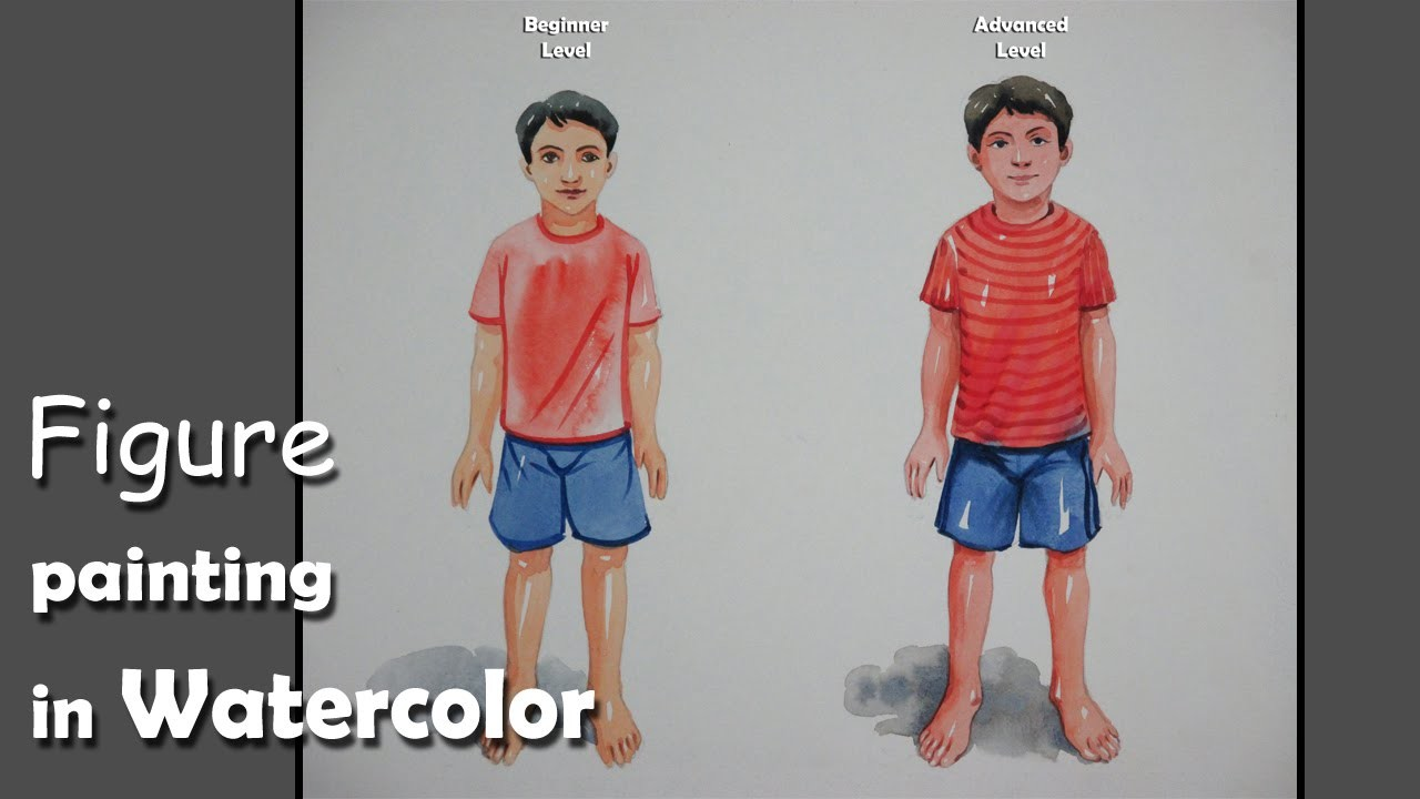 How to Paint A Boy | Beginner & Advanced level Figure Painting in Watercolor