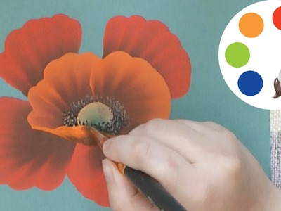 How to Paint a Pretty Poppy Step by Step, cómo pintar de amapola, irishkalia