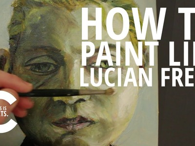 HOW TO PAINT LIKE LUCIAN FREUD WITH CIRCLE LINE | CANVAS