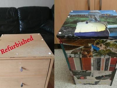 How-To  Refurbished Old Furniture Using Wallpapers.Magazines At Home