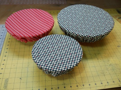 How To Sew Reversible Washable Fabric Bowl Covers