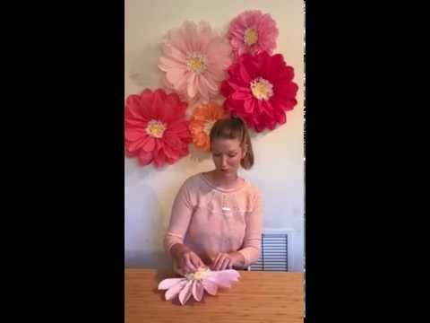 How To: tissue flower backdrop blooming instructions