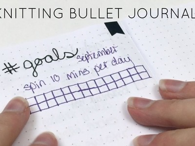 Knit.Plan With Me: Knitting Bullet Journal Update | GLAK