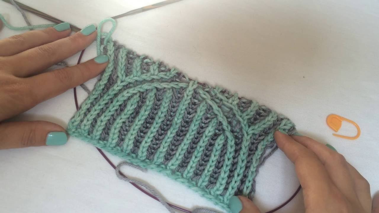 Knitting With Two Colors At The Same Time : Knitting tutorial basics of two color brioche