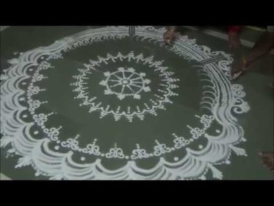 Navratri rangoli Diwali special rangoli How to draw unique sanskar bharati rangoli