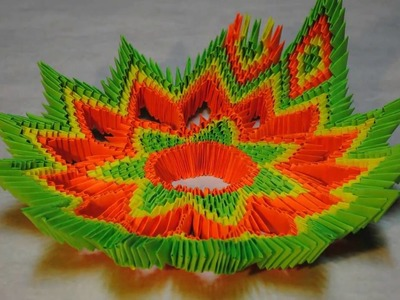 Paper art bowl,how to make paper crafts,easy kids crafts