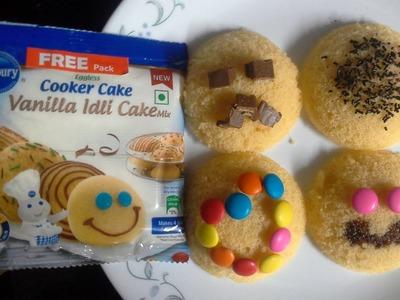 Pillsbury Idli Cake Mix(Egg Less) # HOW TO MAKE IN PRESSURE COOKER