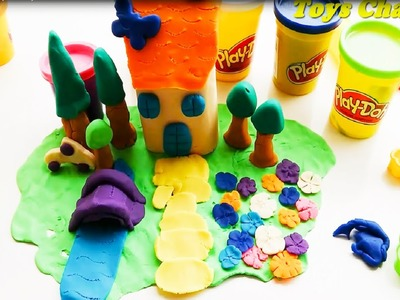 Play doh ❤ How to Make a House with Playdoh Toys For Kid ★Toys Channel 2016