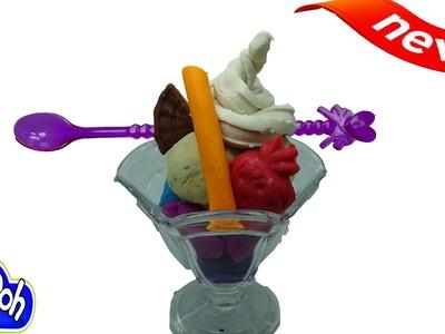 ▬►Play Doh Ice Cream How To Make Play Doh Rainbow Ice Cream Fun and Creative for Kids